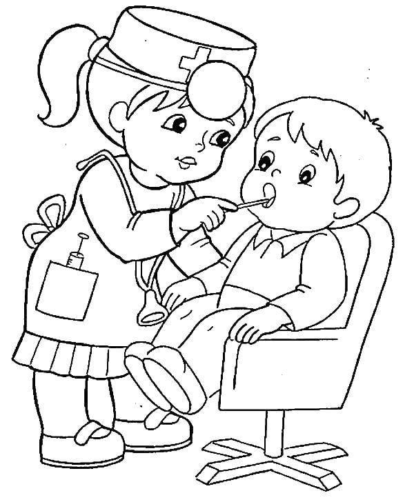 tranh tô màu bác sĩ cho bé