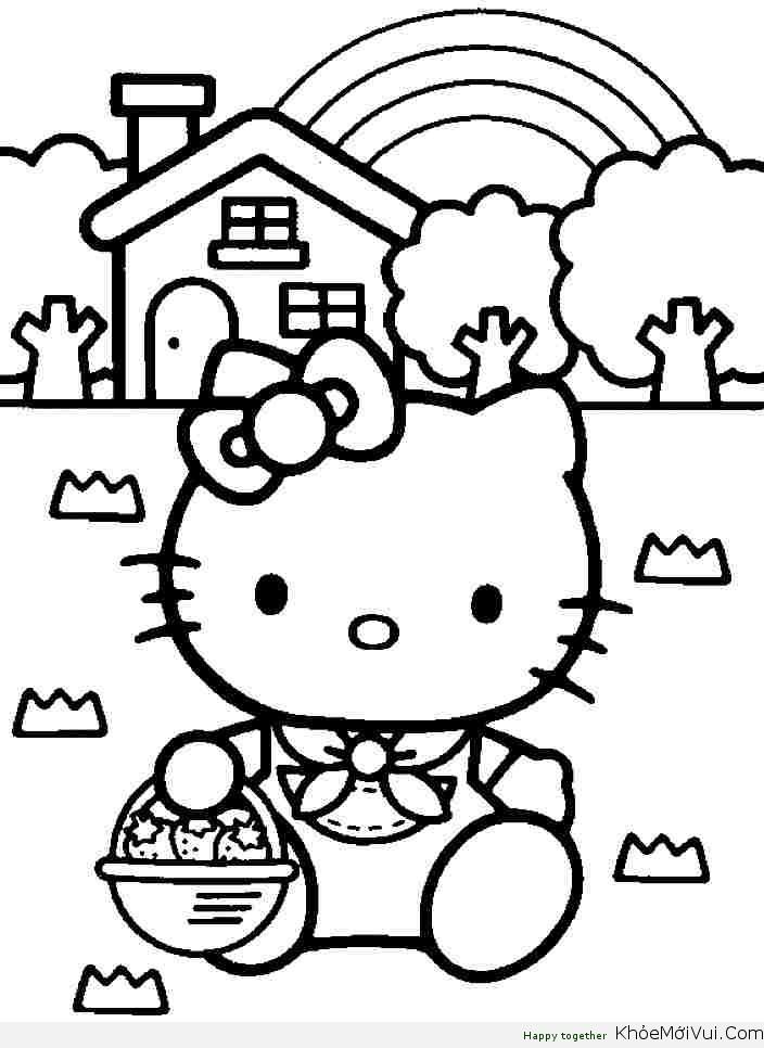 Tải Trọn Bộ Tranh Tô Màu Hello Kitty Cho Bé đẹp Dễ Thương 2019