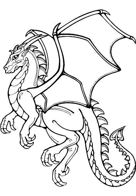 tranh tô màu con rồng cho bé tập tô