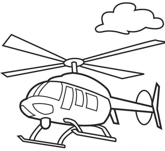 tranh tô màu phương tiện giao thông đường hàng không
