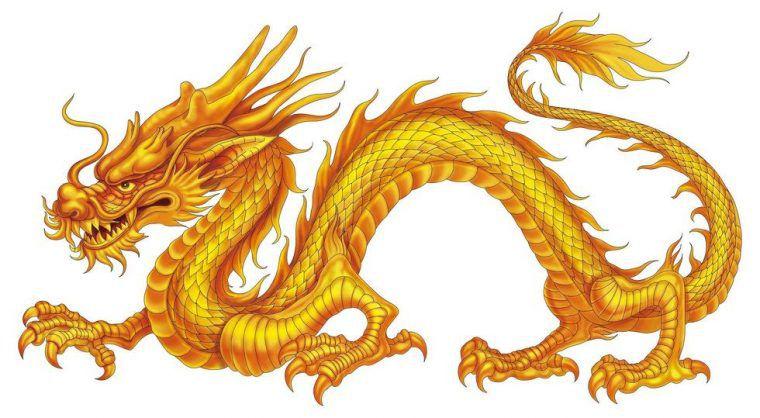 hình ảnh con rồng vàng châu Á