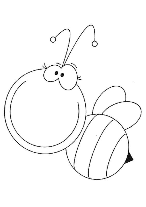 hình tô màu con ong