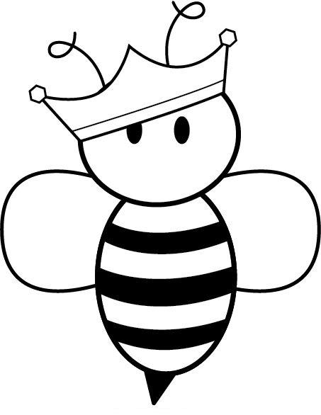 hình tô màu con ong đội vương miện