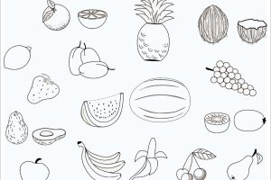 tải tranh tô màu hoa quả trái cây