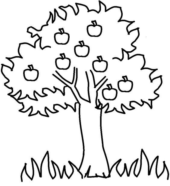 tranh tô màu cây cối