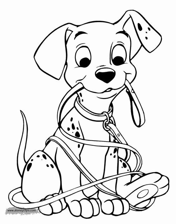 tranh tô màu con chó và sợi dây
