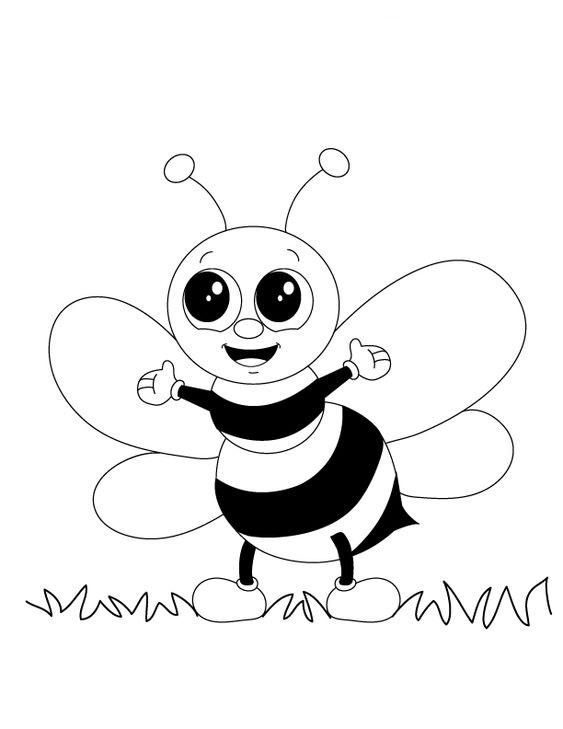 tranh tô màu con ong
