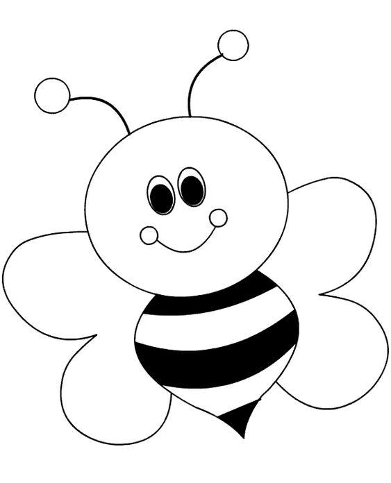 tranh tô màu con ong đẹp