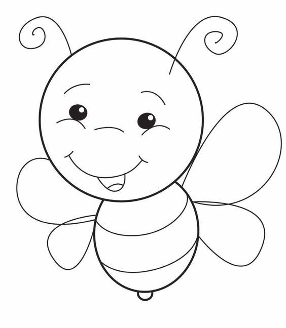 tranh tô màu con ong đẹp dễ thương