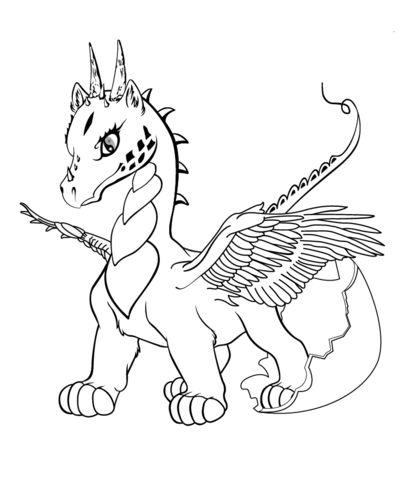 hình tô màu con rồng
