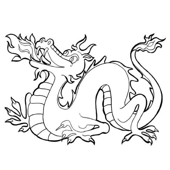 tranh tô màu con rồng dân gian