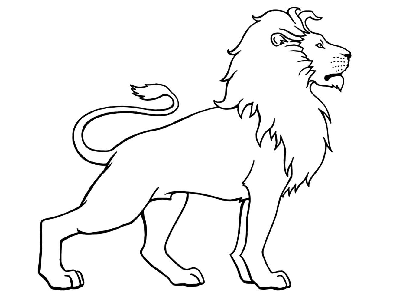 tranh tô màu con sư tử