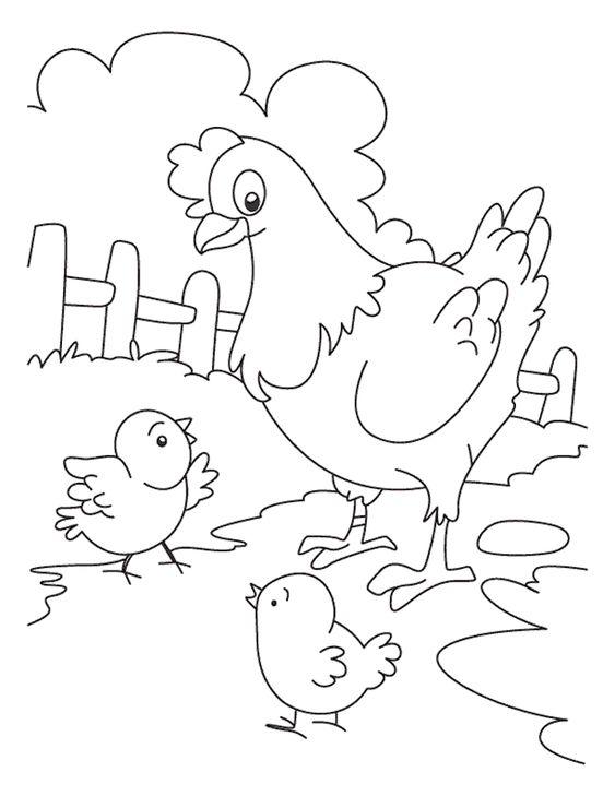 tranh tô màu đàn gà