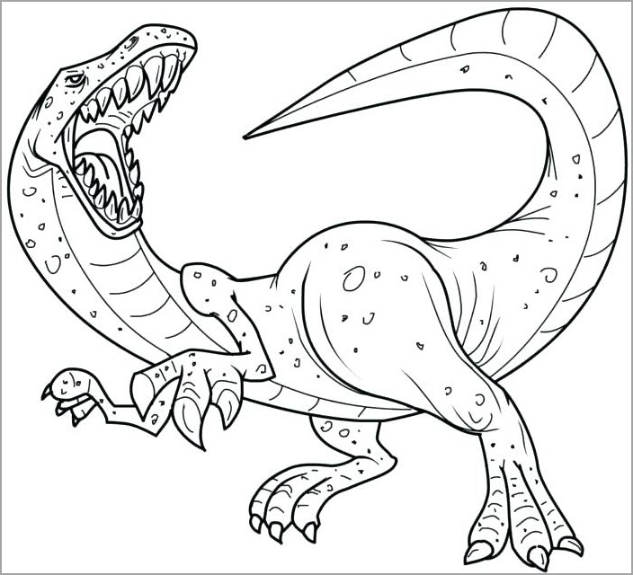 tranh tô màu khủng long bạo chú