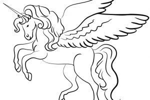 tranh tô màu kỳ lân có cánh